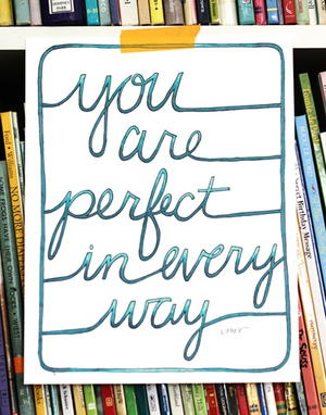 You Are Perfect Coloring Page