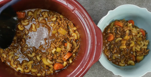 Hungry Mans Frugal Hamburger Soup