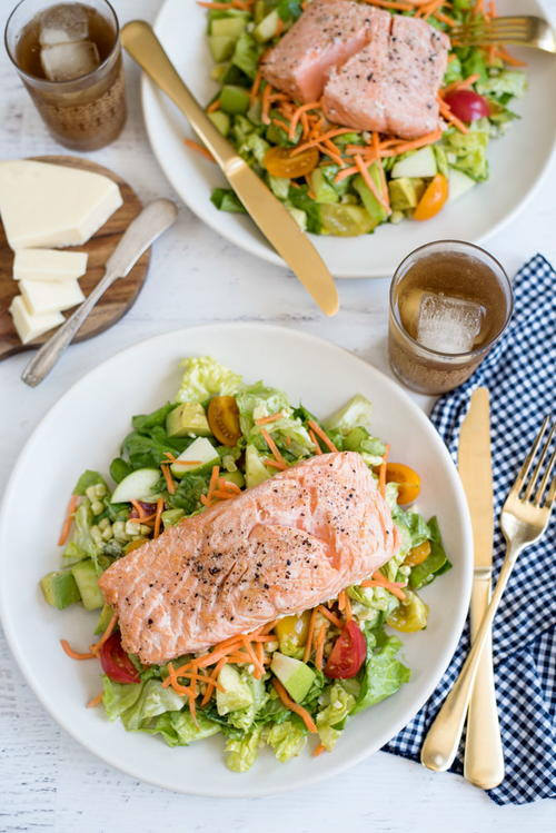 Healthy Chopped Salmon Salad