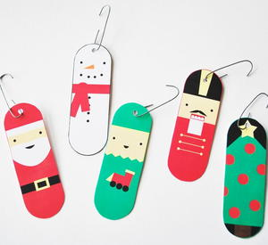 image relating to Printable Ornaments identified as Santa and Nativity Printable Ornaments