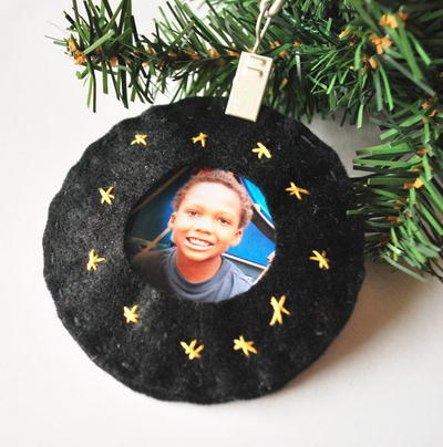 Felt Frame Photo Christmas Ornaments