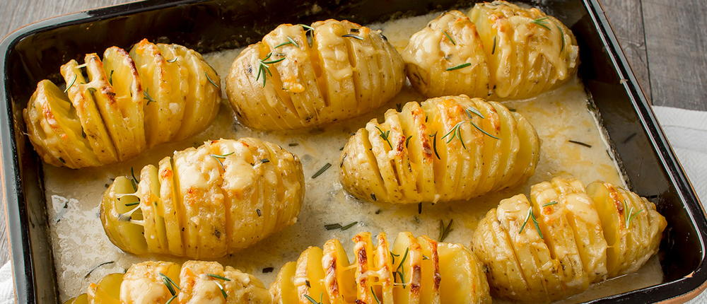 Cheesy Hasselback Potato Gratin Recipelion Com