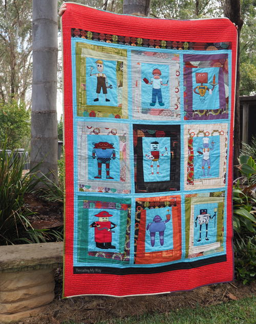 Robot Quilt for Your Grandson