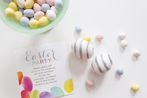 Elegant Glitter Striped Easter Eggs