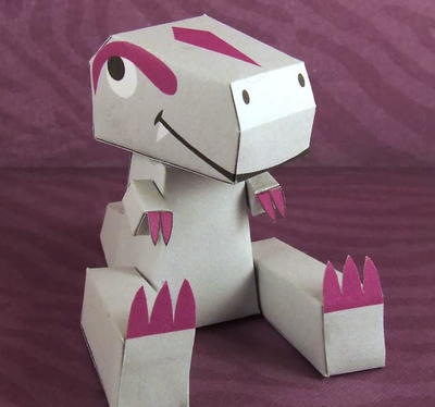 Ludwig the T-Rex Printable Paper Toy