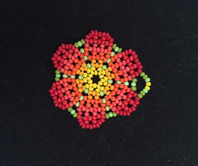 Beaded Peyote Stitch Flower Pendant