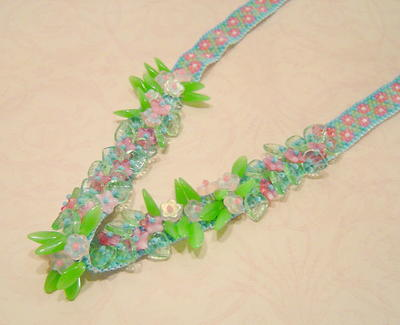 Fairy Garden Peyote Stitch Necklace