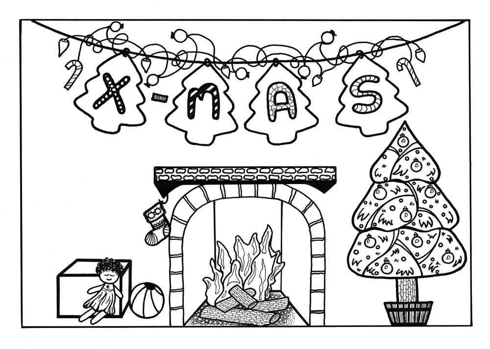 christmas crafts coloring pages - photo#15