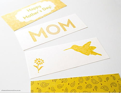 Delightful Mothers Day Bookmarks