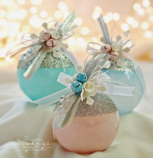 Glamorous DIY Glass Ball Ornaments