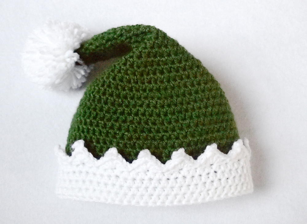 Knitting Pattern For Baby Elf Hat : Little Helper Crochet Elf Hat AllFreeCrochet.com
