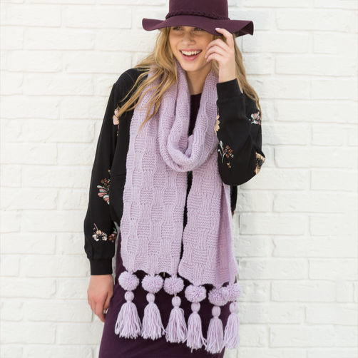 Purple Knit Super Scarf