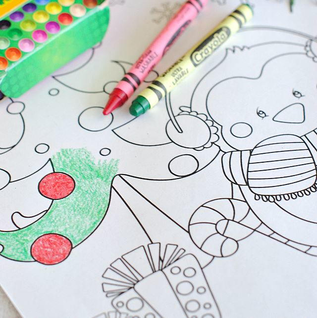 Christmas Characters Printable Coloring