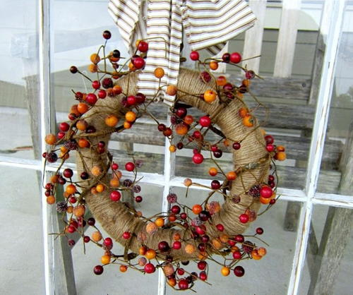 Twine and Berry Fall Wreath