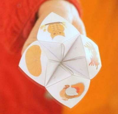 Free Printable Thanksgiving Cootie Catcher  AllfreepapercraftsCom