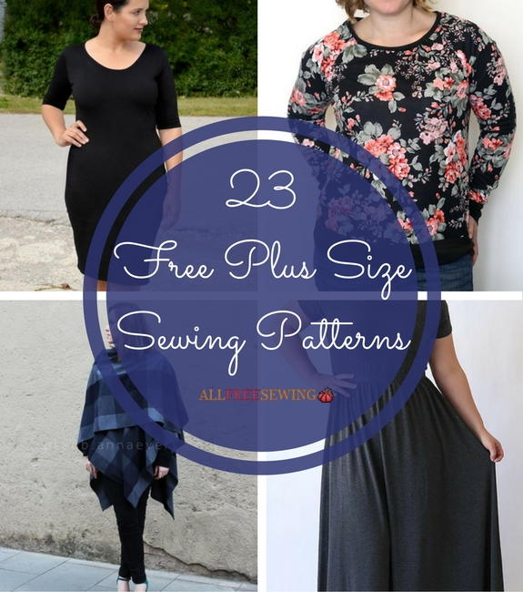 23 Free Plus Size Sewing Patterns Allfreesewing Com