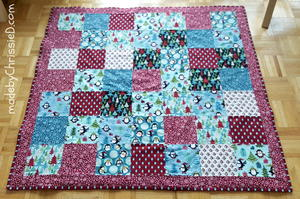 Hand Tied Snuggle Quilt Tutorial