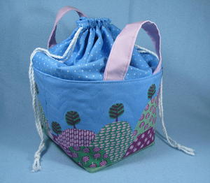 Drawstring Top Fabric Basket