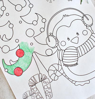 Assorted Christmas Coloring Pages