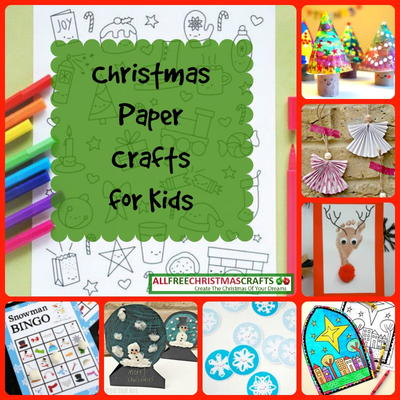picture relating to Printable Christmas Paper identify 25 Xmas Paper Crafts for Little ones