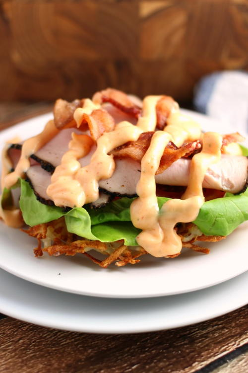 Open Face Hashbrown Turkey Club