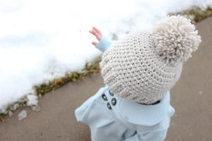 Snow Problem Crochet Baby Beanie