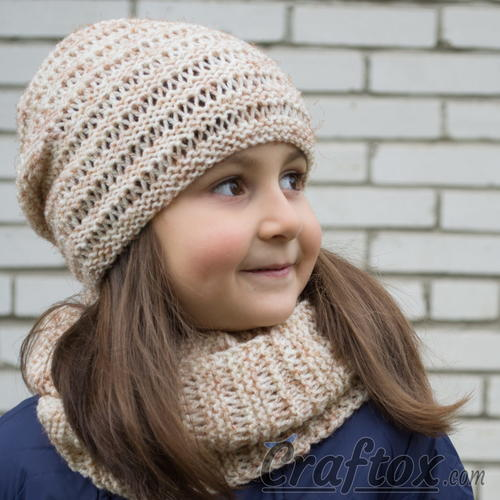 Kari Knit Hat and Cowl Set