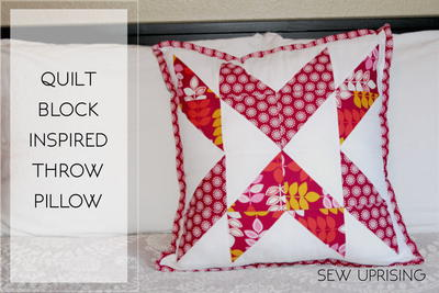 Quilt Block Inspired Throw Pillow