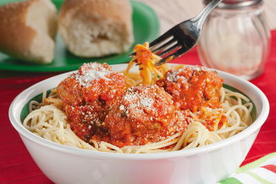 Potluck Spaghetti and Meatballs