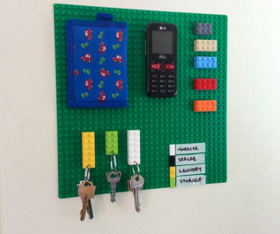 DIY Key Holder LEGO Craft