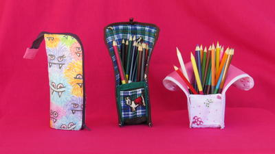 Upright Zip-It-Up Pencil Case