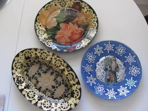 DIY Glass Plate Decoupage