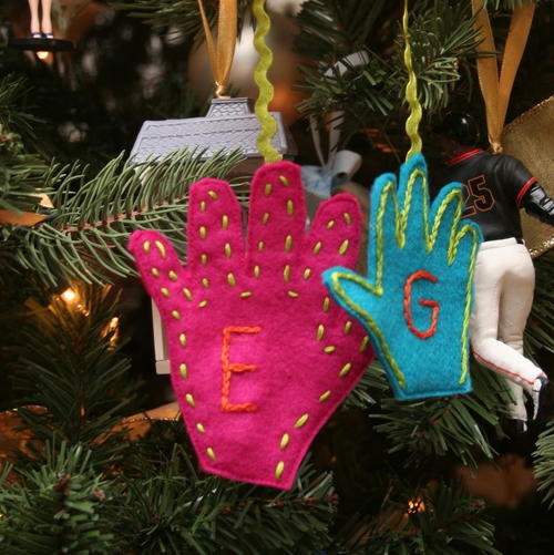 Handprint Felt Ornament