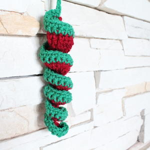 """Spiral Icicle"" Crocheted Christmas Bauble"