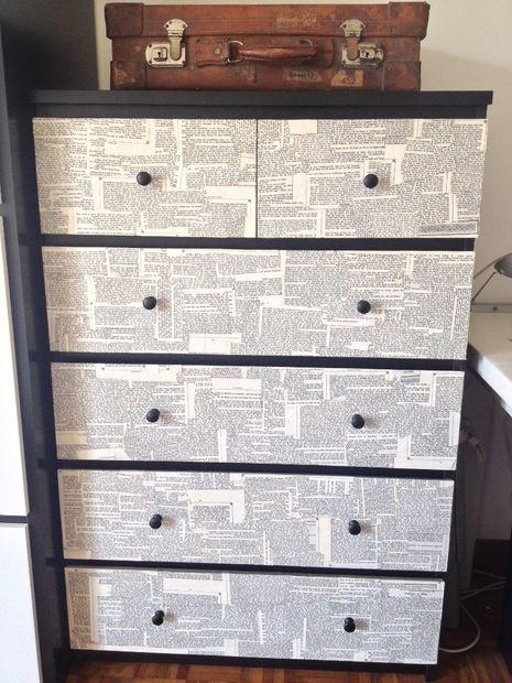 Dressed Up Decoupage Dresser
