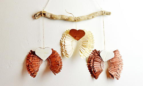 Upcycled Vintage Shuttlecock DIY Angel Wings