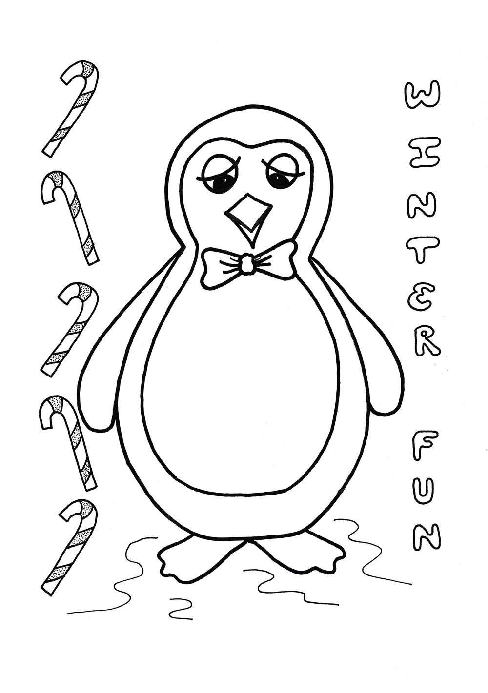 Toby the Penguin Kids Coloring Page | AllFreeKidsCrafts.com