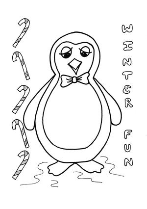 Toby the Penguin Kids Coloring Page