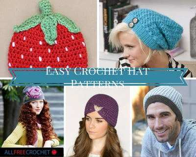 29 Easy Crochet Hat Patterns