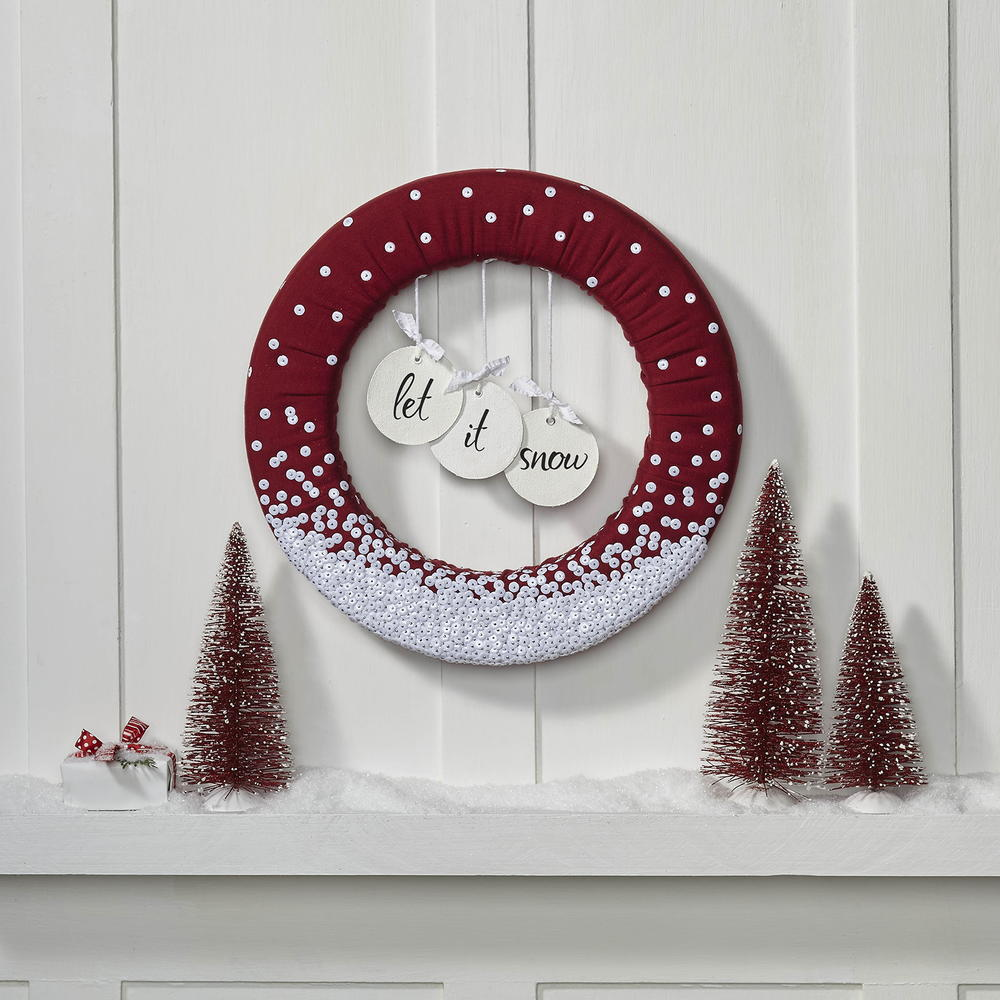 Let It Snow Wreath FaveCrafts