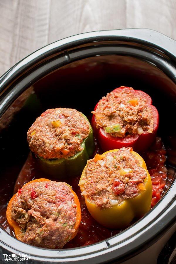 Taco Meat Loaf Stuffed Peppers Allfreeslowcookerrecipes Com