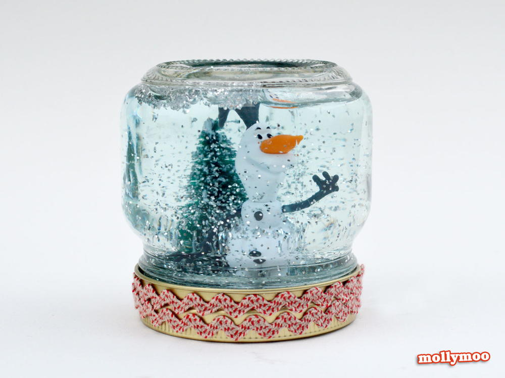 Quick and Easy Homemade Snow Globes | AllFreeHolidayCrafts.com