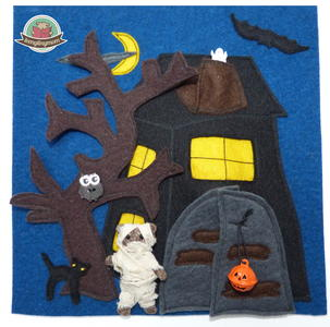 Teddy and the Haunted House Quiet Book Pattern