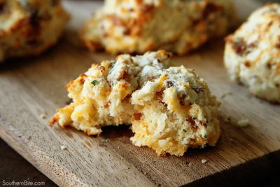 Cheddar Bacon Ranch Drop Biscuits