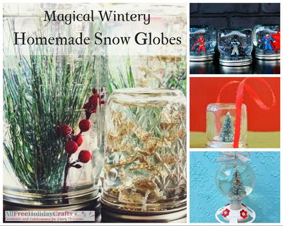 Magical Wintery Homemade Snow Globes