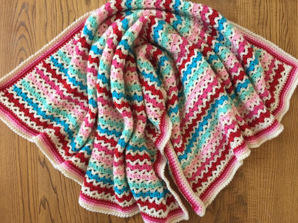 Little Flower Granny V-Stitch Blanket