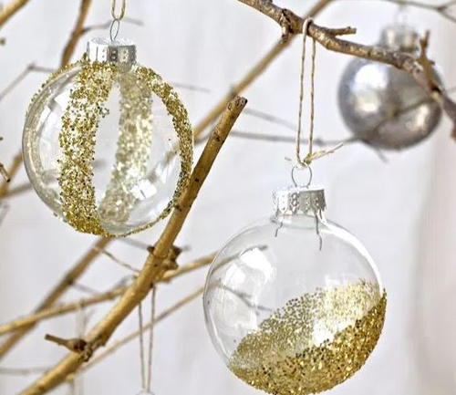 Glitter DIY Christmas Ornaments