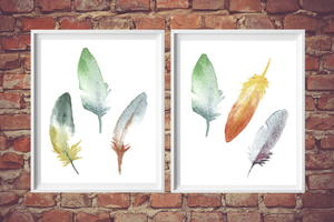 Colorful Feathers Printable Art