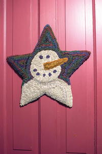 Primitive Snowman Star