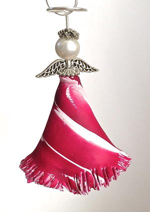 Colorful Christmas Angel Ornament